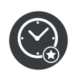 Monochrome round best time icon vector image vector image