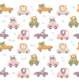nursery transport pattern vector image vector image