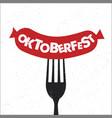 oktoberfest lettering vector image vector image
