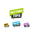 online betting isolated icons set vector image