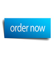 order now blue paper sign on white background vector image vector image