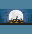 scary halloween pumpkins vector image vector image