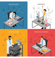 science lab design concept vector image vector image