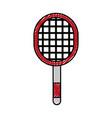 scribble sport racket cartoon vector image