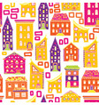 seamless house pattern new-05 vector image vector image