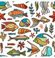 seamless underwater ocean pattern vector image