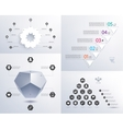 set infographics 3d shape pyramid vector image