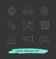 set of electronic icons line style symbols with vector image vector image