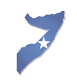 somalia africa map flag vector image
