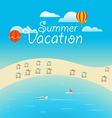 Summer season concept Summer vacation vector image