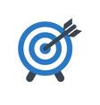 target glyph icon vector image vector image