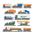 truck delivery vehicle or cargo vector image