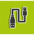 usb connection design vector image vector image