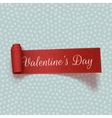 Valentines Day realistic red scroll textile Ribbon vector image