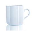vector illustration of realistic cool tea cup over vector image