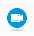 Video camera icon Film recording cam symbol vector image vector image