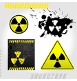 Warning radiation signs vector image