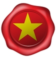 wax seal with vietnam flag vector image vector image