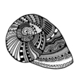 Zentangle stylized shell vector image vector image