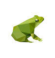 modern flat design with origami frog vector image