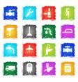 plumbing service icon set vector image