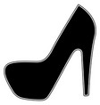 woman shoes the black color icon vector image