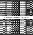set of ten seamless zig zag pattern vector image
