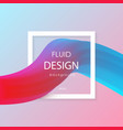 abstract 3d liquid colorful shapes liquid color vector image vector image