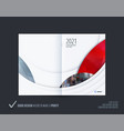 abstract double-page brochure design round style vector image