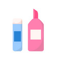 adhesive in stick or plastic container icon vector image