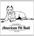 american pit bull dog - for t vector image vector image