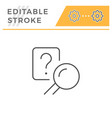 answer search editable stroke line icon vector image
