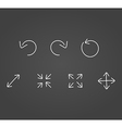 Arrows icons draw effect vector image