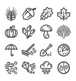 autumn line icon vector image vector image