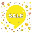 autumn sale bubble template banner vector image