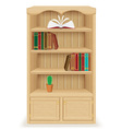 bookcase 02 vector image