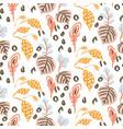 botanical garden seamless pattern vector image vector image