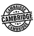 cambridge black round grunge stamp vector image vector image