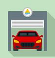 car wash garage icon flat style vector image vector image