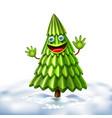 christmas tree xmas new year design vector image vector image