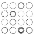 circle icons set on white background line style vector image vector image