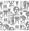 classical pattern of venus de milo and columns vector image