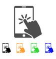 click smartphone icon vector image vector image