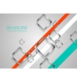 Corporate brochure design with metallic squares vector image vector image