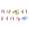 couple in love isometric dating and time together vector image