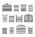 Decorative Fences Set vector image