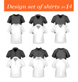 design shirt set 14 vector image vector image