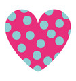 dotted heart in love decoration romantic vector image vector image