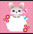 Easter bunny with butterflies vector image vector image