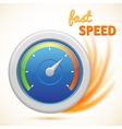 fast speed symbol speedometer isolated vector image